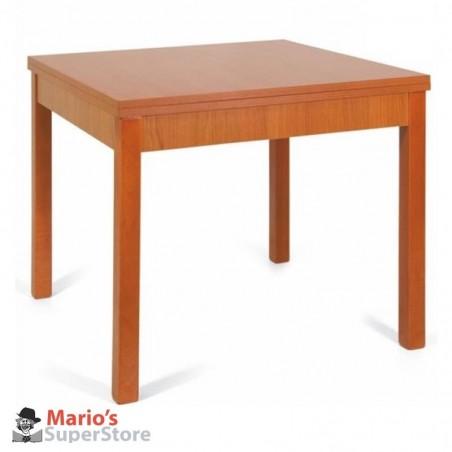 Tavolo allungabile a libro100x100 legno massello bianco cucina sala - Tavolo quadrato allungabile legno massello ...