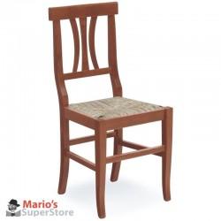 sedia da cucina Tania in legno massello seduta paglia